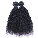Brazilian Virgin Hair Weave Kinky Curly Weft Human Hair Nautral Black Bundles 2pcs/lot