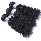 Virgin Brazilian Hair Weft Extension Curly Natural Color Bundles Hair 3pcs/lot
