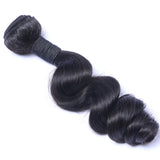 Loose Wave Weft Hair Extension Natural Color Brazilian Virgin Human Hair 1Bundle