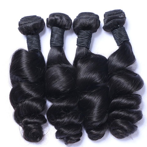 Brazilian Virgin Human Hair Weaving Loose Wave Weft Hair 4pcs/lot