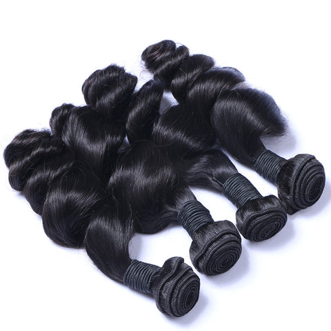 Virgin Brazilian Hair Weft Extension Loose Wave Natural Color Bundles Hair 3pcs/lot