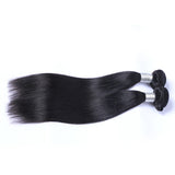 Brazilian Virgin Hair Weave Silky Straight Weft Human Hair Nautral Black Bundles 2pcs/lot