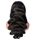 Indian Remy Hair Lace Front Wigs Natural Color Body Wave 130-180% Density Ubeautywig