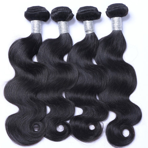 Brazilian Virgin Human Hair Weaving Body Wave Weft Hair 4pcs/lot
