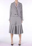 Checkered Oversize Blouson Jacket