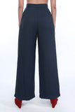 Watteau Inspired Front Wide Leg Pants