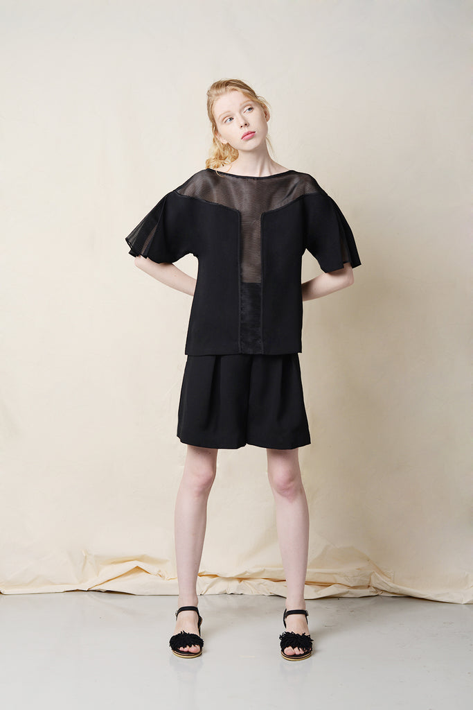 Paneled Sheer Top