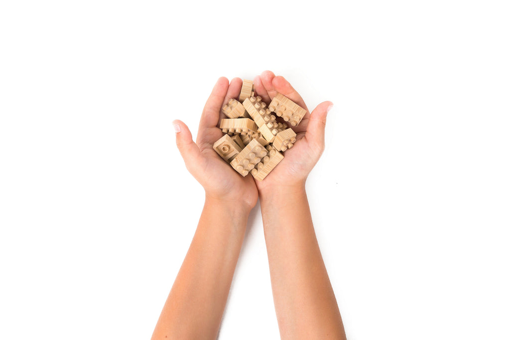 Eco-bricks™ Bamboo Blocks in Hands