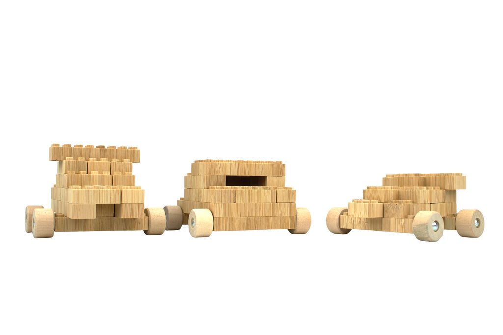 ecobricks bamboo 90pc build sets