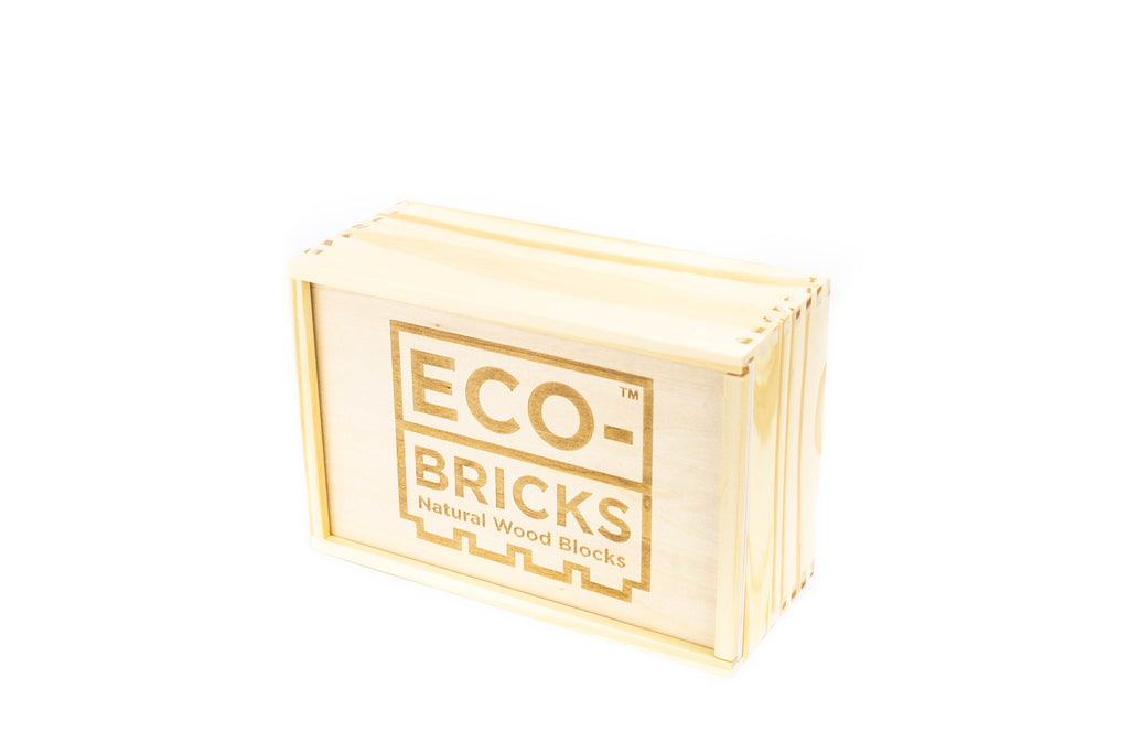 ecobricks bamboo 90pc medium wooden box