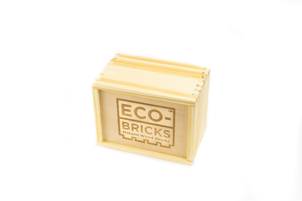 ecobricks bamboo 24pc small wooden box closed