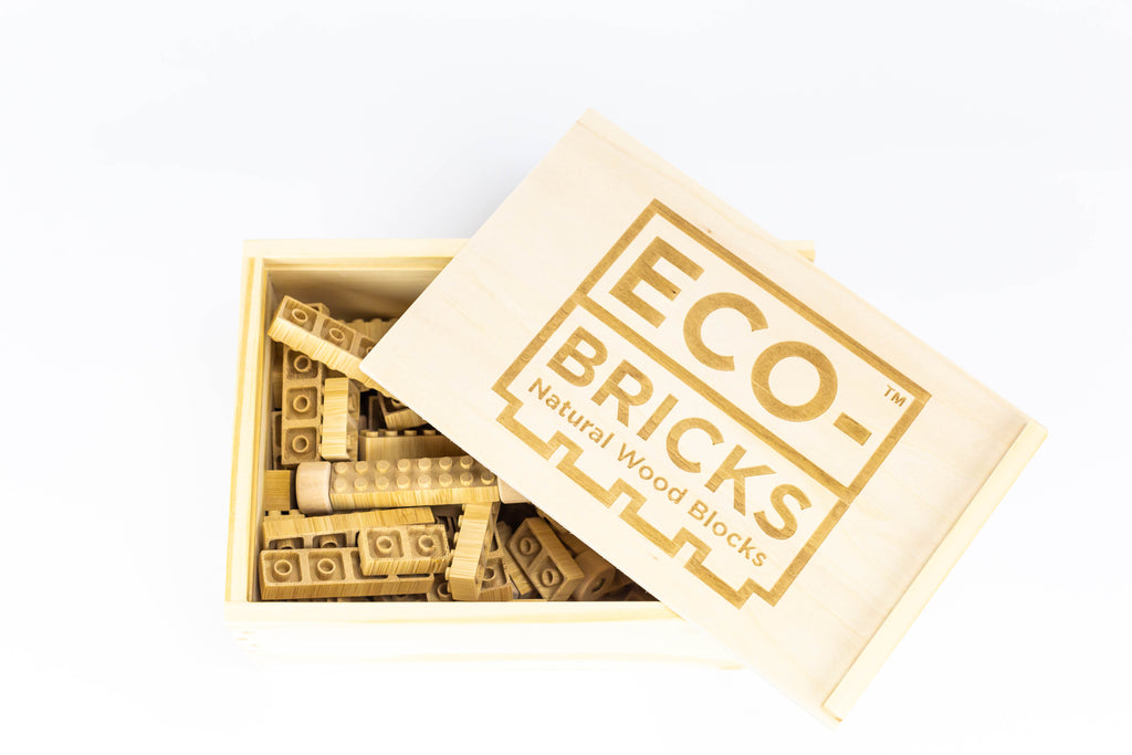 ecobricks bamboo 90pc open medium wooden box