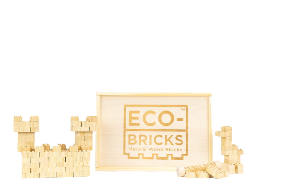 ecobricks bamboo 250pc large wooden box bamboo bricks