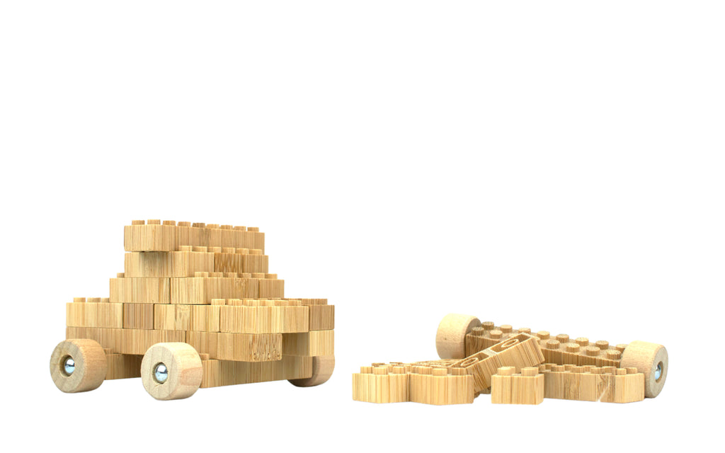 ecobricks bamboo 24pc build sets