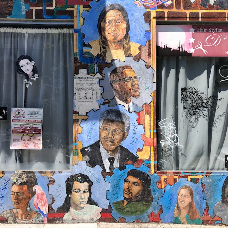 Mission Arts District.  Art House SF. local heroes