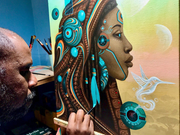 Paul Lewin and his painting