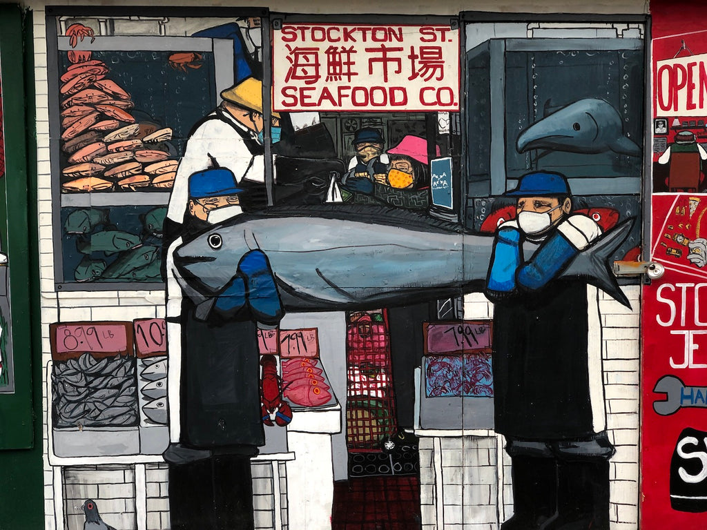 Seafood Co mural in San Francisco Chinatown