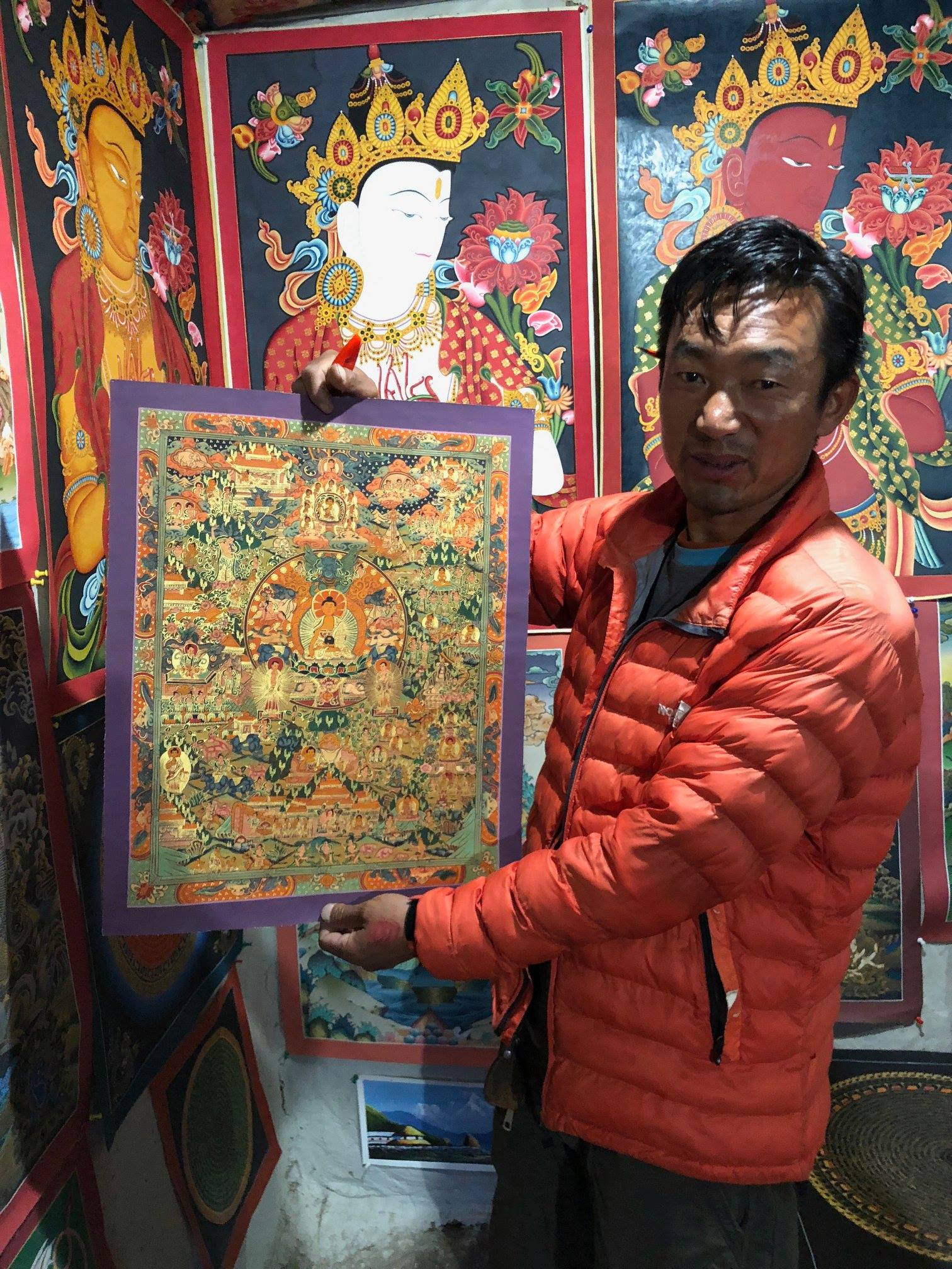 Buddhist Thangka from Nepal