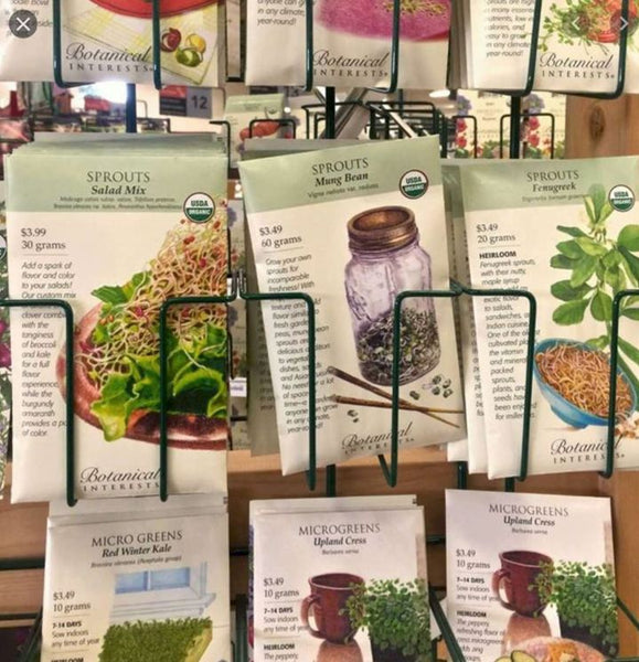Sprouts Seeds rack, my favorite hangout spot