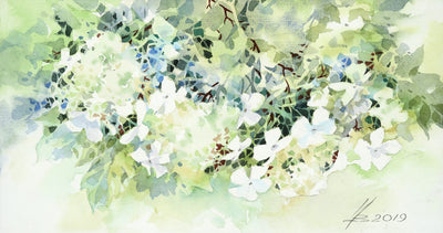 Watercolor garden art for sale by Inna Petrashkevich from Belarus. Lace Spring