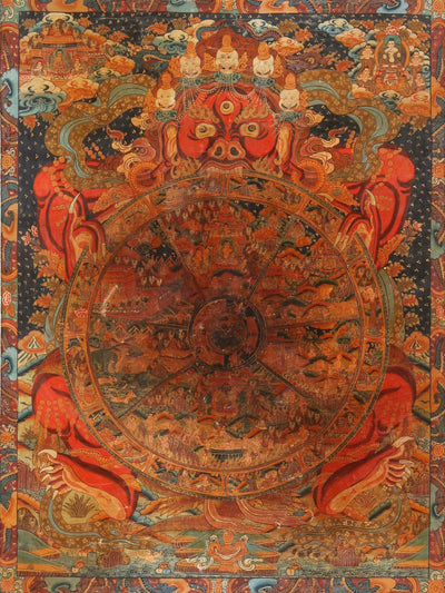 Thangka-Wheel of Life Thangka