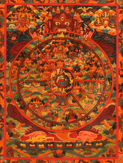 Thangka-Old Wheel of Life Thangka