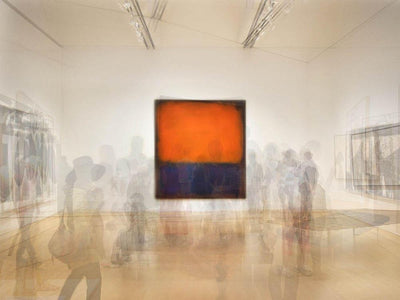 Pep Ventosa photography, aluminum panel for sale. Purple and orange Rothko in San Francisco MOMA