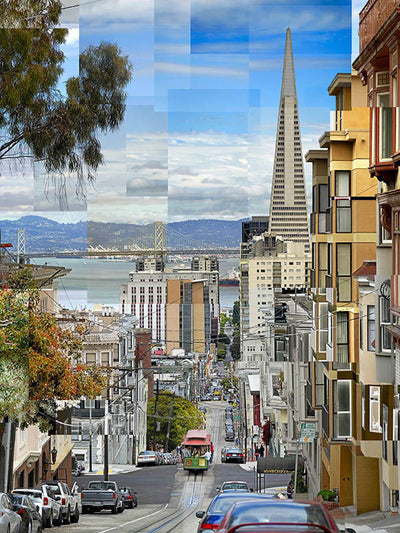 Pep Ventosa photography, aluminum panel for sale. Cable Car in San Francisco