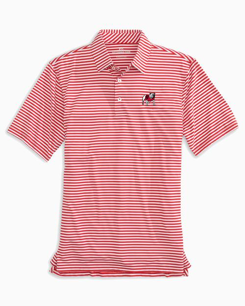 Georgia Bulldogs Striped Polo Shirt