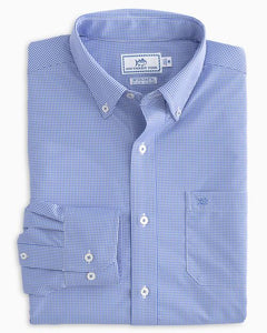 LS Point Pinos Micro Gingham Blue Cove