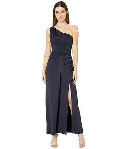 W Ruched Twisted One Shoulder Maxi