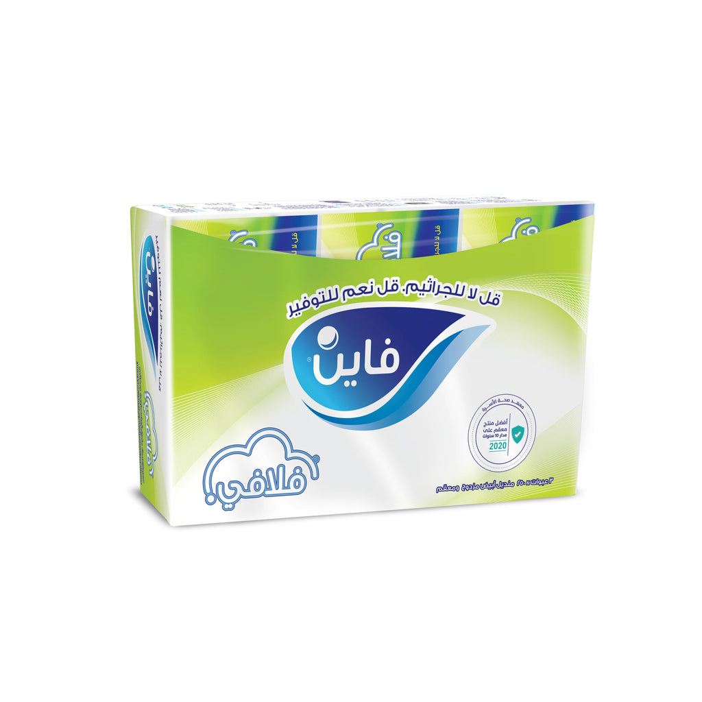 Fine Fluffy, Facial Tissues, 250 X 2Ply White Tissues, Pack of 3