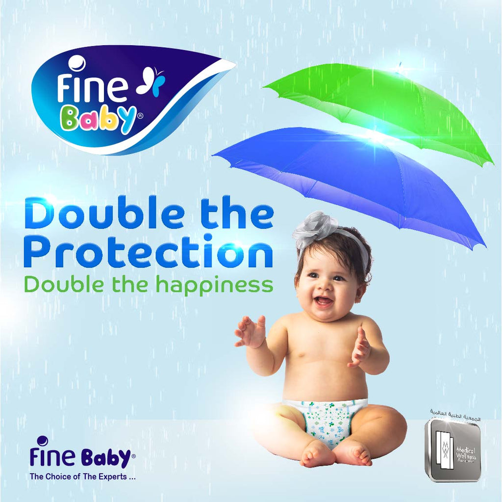 Fine Baby Diapers, Size 2, Small 3-6kg, Economy Pack, 40 diapers