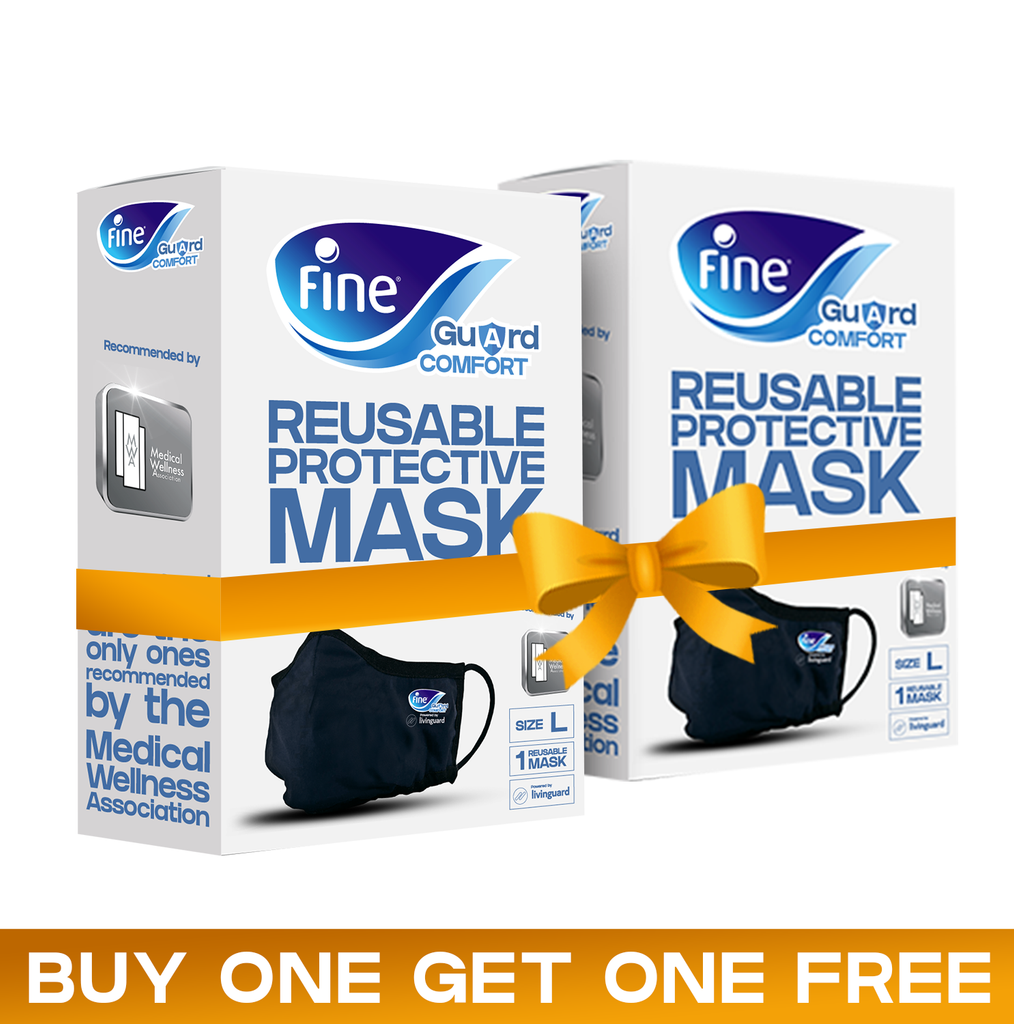 Buy 1 Get 1 Free, Fine Guard Comfort Face Mask, With Livinguard Technology
