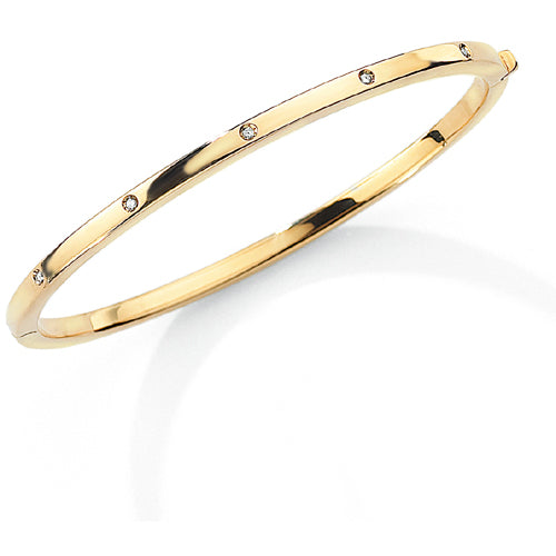 9ct Gold Diamond Bangle