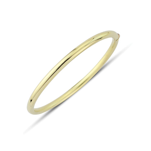 9CT Gold Oval Bangle