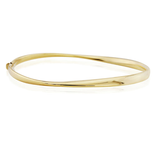 9CT Polished Twist Bangle