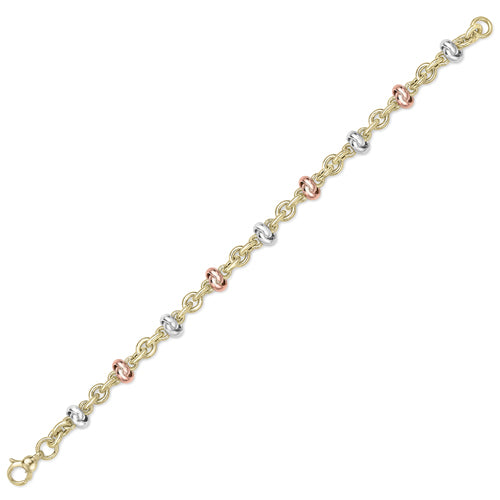 9CT White Rose and Yellow Gold Bracelet