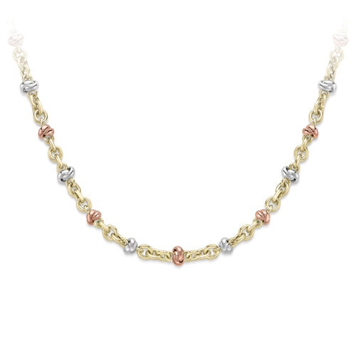 9CT White Rose and Yellow Gold  Necklace