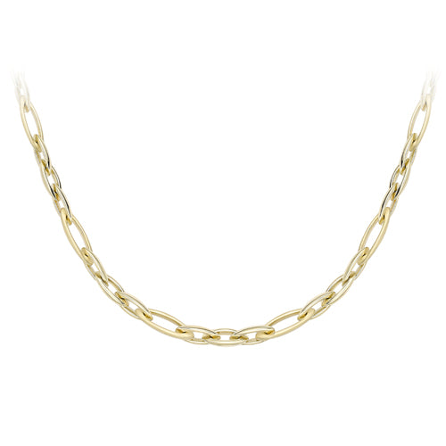 9ct Yellow Gold Fancy Chain Necklet