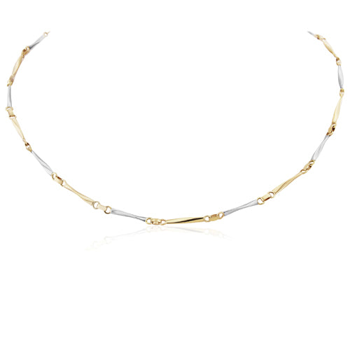 9CT White and Yellow Gold Necklace