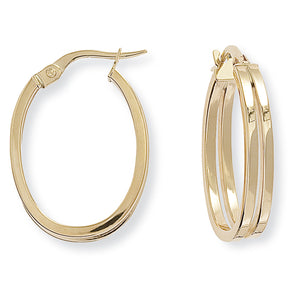 9CT Square Tube Oval Hoop