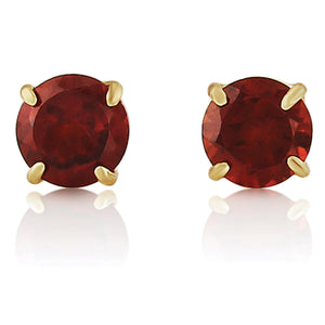 9CT Garnet Round Earrings