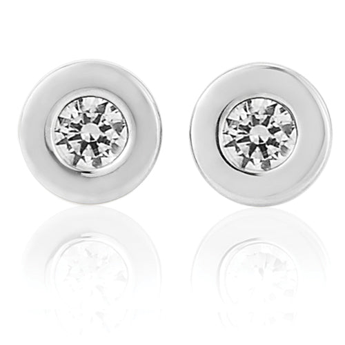 9ct Cubic Zirconia Stud Earrings