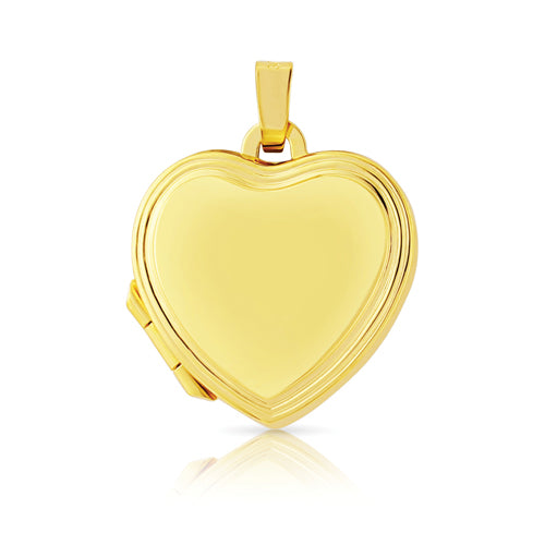 9ct Gold Polished Heart-Shaped Locket