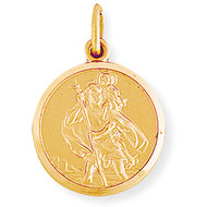 9ct Gold Round St Christopher Medallion