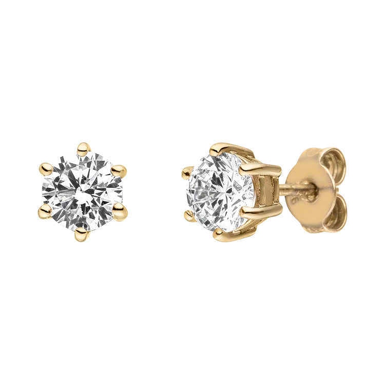 Silver Viventy CZ Stud Earrings