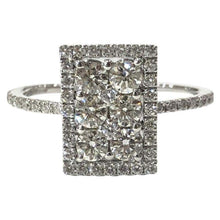 Load image into Gallery viewer, 18 Carat White Gold Delicate Art Deco Style Diamond Cluster Ring