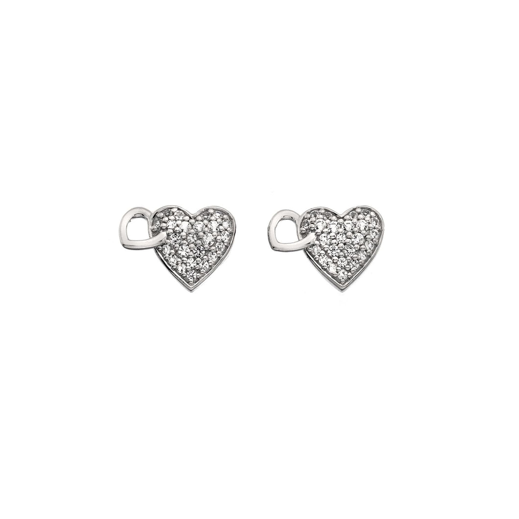 Silver Hot Diamonds Heart Earrings