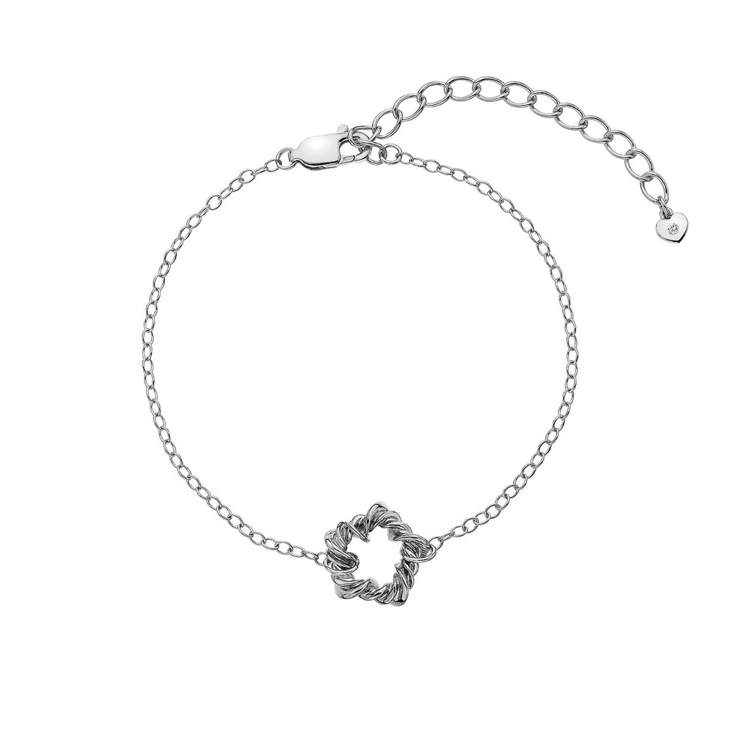 Silver Hot Diamonds Vine Bracelet